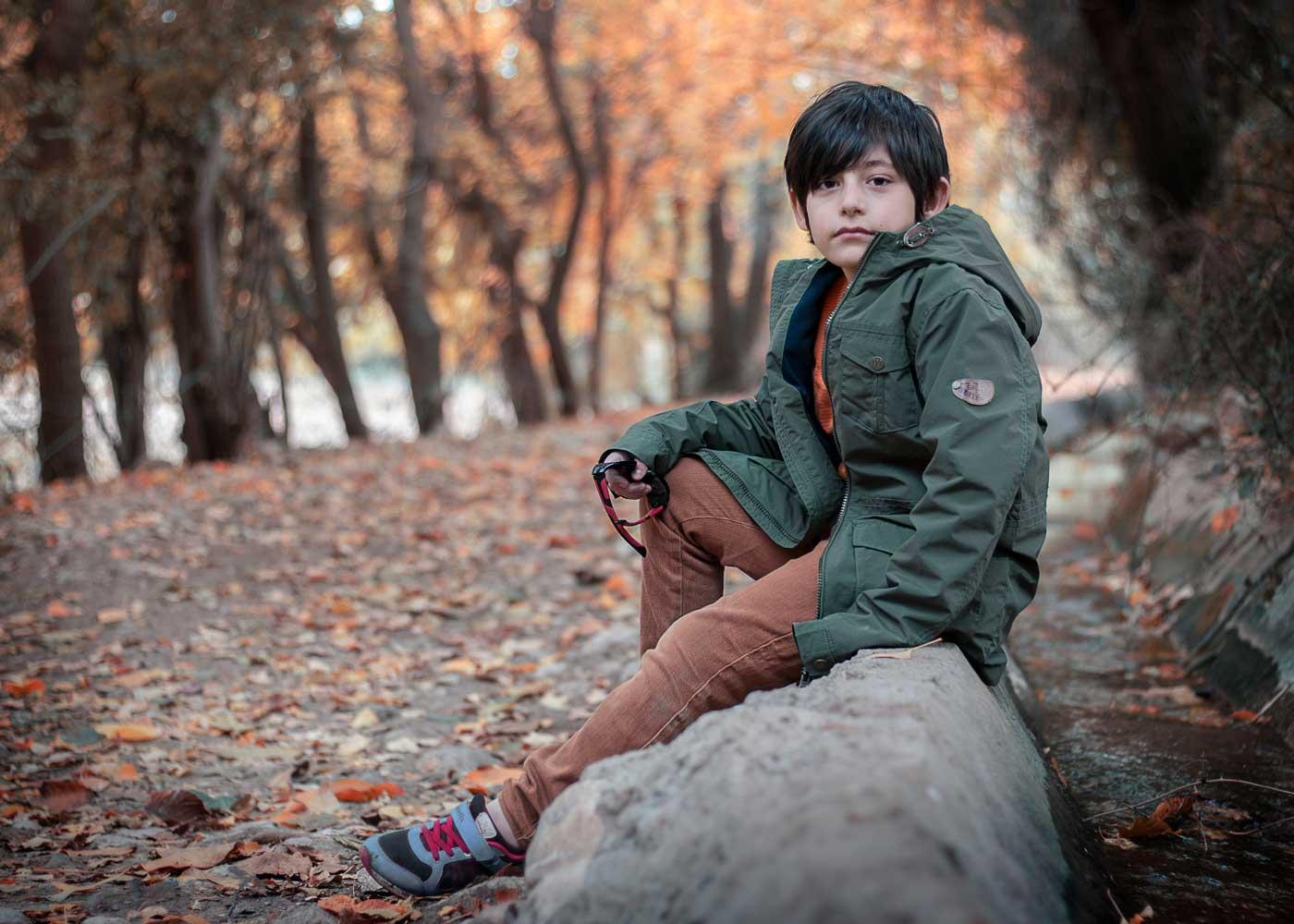 sonbahar ve çocuk