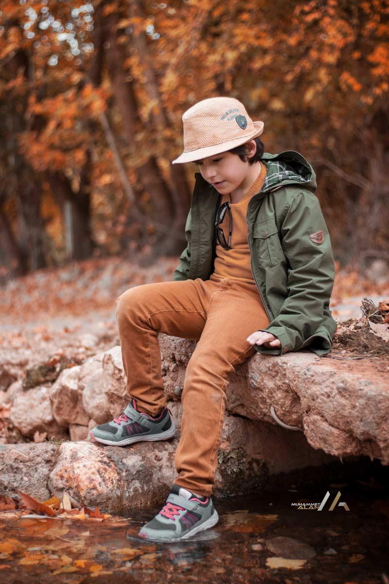 Sonbahar dış çekim Çocuk fotoğrafları